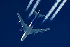 Atlas Air Boeing 747-45E(F) N485MC (Thames Air) Tags: atlas air boeing 74745ef n485mc contrail telescope dobsonian contrails overhead vapour trail