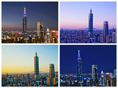 101 (skystyle201804) Tags: sonyilce6500 夜景 點燈 粉色調 夕照 101 象山 台北