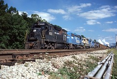 Interesting Power, Interesting Loads (NSHorseheadSD70) Tags: robert tokarcik conrail cp conpit railroads trains railways locomotives new florence pa pennsylvania emd ge