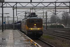 Fairtrains/HSL 1304 with empty cartransportationwagons at Woerden 6 february 2019 (Tsaar Martijn) Tags: trein goederentrin train trains freighttrain amsterdam haven houtrakpolder woerden 1304 hsl fairtrains ns nederlandsespoorwegen