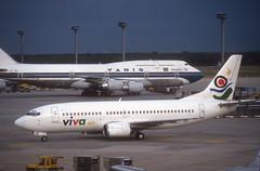 Viva Air 737 ' EC-FER' (Longreach - Jonathan McDonnell) Tags: scan scanfromaslide boeing 737 viva frankfurt eddf ecfer vivaair 1990s 1992 737300 7373q8 730020