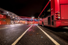 Racing lines (Paul Wrights Reserved) Tags: light lighttrails lightburst leadinglines leading bus buses london londonstreets londonbus londonbuses tfl night nightphotography nighttime