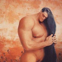 Samson (Monich Alexander) Tags: samson book judges hebrew bible man sun biblical collage hot sex sexy sexual naked nature nude nudety nudity nud hair long body bodybuilder delilah monich alexander illustration illustrator photoshop art modern contemporary ancient greece greek philistine myths mythology mystic power cartoon rope god christian cute cutie handsome nipples nipple muscled muscles gym sport model