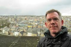 Paul at the Citadelle, view of Namur, Belgium (Paul McClure DC) Tags: namur namen belgium belgique wallonia wallonie feb2018 historic architecture scenery castle citadel paulmcclure ardennes