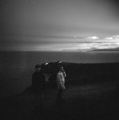 Howth (Daire Quinlan) Tags: holga 120 rodinal 125 10 neopan fuji bw asa400 400asa gcfn 6x6 10min dublin howth sunset rainbow lighthouse