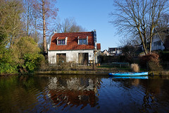 Abcoude (Julysha) Tags: abcoude 2018 february winter thenetherlands angstel river reflection house boat d800e nikkor142428