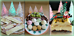 2018 Sydney: Boxing Day Leftovers (dominotic) Tags: 2018 food dessert fruit confectionery meringue chocolate cheese brie caramelamppassionfruitcheesecakebûchedenoël grapes yᑌᗰᗰy foodphotography christmasfood seasonal foodcollage triptych sydney australia