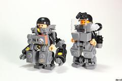 Military Trooper X51 2.0 and X50 (Devid VII) Tags: moc mecha military minifig lego devid vii crew mech war troopers black x51 minifigs minifigure dbg x50 2018 mobile suit mini foitsop