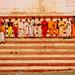 Young Hindu Pilgrims at Shankaracharya Ghat, Varanasi India