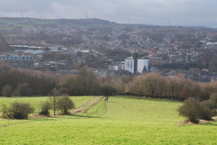 New Years Day above Brighouse (Halliwell_Michael ## Offline mostlyl ##) Tags: brighouse westyorkshire nikond40x 2019 newyear trees sugdensmill millroyd brighouseecho halifaxcourier landscapes towns urban pennines