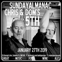 diary #2292: Sunday Almanac 5th Birthday, January 27th 2019.