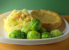 Cheese Pie with Mash and Sprouts (Tony Worrall) Tags: add tag ©2019tonyworrall images photos photograff things uk england food foodie grub eat eaten taste tasty cook cooked iatethis foodporn foodpictures picturesoffood dish dishes menu plate plated made ingrediants nice flavour foodophile x yummy make tasted meal nutritional freshtaste foodstuff cuisine nourishment nutriments provisions ration refreshment store sustenance fare foodstuffs meals snacks bites chow cookery diet eatable fodder ilobsterit instagram forsale sell buy cost stock cheese pie mash sprouts