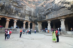 Elephanta Caves (Seventh Heaven Photography *) Tags: elephanta caves island mumbai india ancient monument architecture rocks columns world heritage site nikond3200 unesco temples gharapuri basalt buddhist hindu persons people