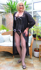 BloMaxblabust-011 (fionaxxcd) Tags: crossdresser crossdressing trannie tranny m2f mtf boygurl transvestite blackpantyhose blacktights bustier highheels crutch blondeheair redlipstick sandals bust rednails cleavage