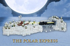 The Polar Express (-Balbo-) Tags: lego moc polar express train micro scale bauwerk zug winter christmas weihnachten snow schnee tom hanks santa clause weihnachtsmann polarexpress