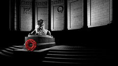 Remembrance Day.jpg (___INFINITY___) Tags: 2018 6d aberdeen bw godoxad360 toourgloriousdead architect architecture art blue building canon canon1740f4 color cowdrayhall darrenwright dazza1040 eos flash granite infinity light lightpainting lion magiclantern night red scotland sculpture statue stone strobist uk warmemorial wideangle