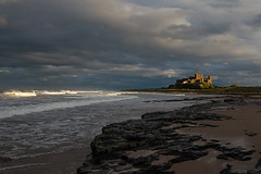 Bamburgh Castle (robbaxter71) Tags: bamburghcastle bamburgh castle northumberland uk coast eastcoast history ocean sea sky sun rocks water beach waves