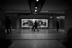 Big brother is watching you 4 (jeffclouet) Tags: paris france europe capital nikon nikkor d850 bnw nb pb bw monochrome blackandwhite metro rer subway tube urban urbain urbano city ville cuidad street rue calle people streetlife streetphotography streetshot streetview jr jrartist bigbrother watching urbanphotography urbanlife walking urbanscene streetscene eyes yeux ojos