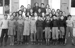 Class photo (theirhistory) Tags: boy children kids girls school class form group pupils jumper trousers jacket wellies shoes rubberboots