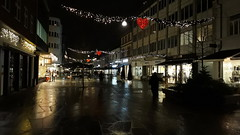 Herning by night (Steenjep) Tags: herning jylland jutland danmark denmark aften nat lys light street gade night bibliotek cafe sign skilt