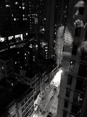 The world outside my window (Leguman vs the Blender) Tags: hongkong asia building nightlife blackandwithe