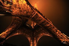 Under The Tower (aFieW Photography) Tags: approved france paris eiffel tower under orange lights metal structure architecture lifts
