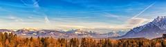 Die Alpen (w.lichtmagie) Tags: ainring gebirge berchtesgadenerland berchtesgaden bayern deutschland alpen berge panorama canonefs1755 lightroom photoshop ngc