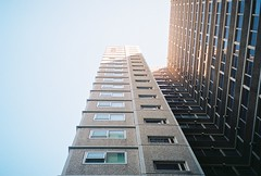 (homesickATLien) Tags: 35mm film art kodak expired mjuiii olympus analog melbourne victoria australia expression window highrise apartment shelter light shadow darkness