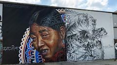 Honoring Tibet by Li Hill & Matt Adnate (wiredforlego) Tags: graffiti mural streetart urbanart aerosolart publicart bushwick brooklyn newyork nyc mattadnate adnate lihill