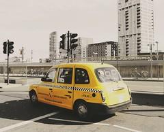 London (checker) cab (fatty13en) Tags: taxi cab checker london city car automotive yellow coloursplash england