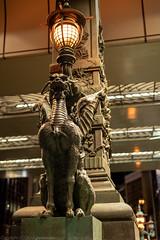 Kirin statue on Nihon-bashi (gemapozo) Tags: tokyo kirin night nihonbashi pentax statue k1mkii japan 東京都 日本 jp hdpentaxdfa50mmf14sdmaw 夜景 麒麟 日本橋
