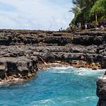 Cliff jumping Queen's Bath Princeville Kauai, Hawaii thumbnail