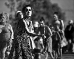 meeting place (gro57074@bigpond.net.au) Tags: meetingplace canberra filmeffect grain f28 70200mmf28 nikkor d850 nikon barangaroo people firstaustralian woman bw blackwhite tribal ceremony dance guyclift january 2019 australiaday