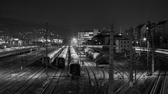 Verschubbahnhof Wien West (richard.kralicek.wien) Tags: vienna austria blackandwhite night