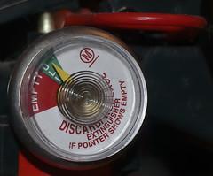 "Just In Case-HMM! (❅We Got 13"" Of SNOW!!!❅) Tags: fireextinguishergauge full keepingussafe kitchenuse round macromondays safety"