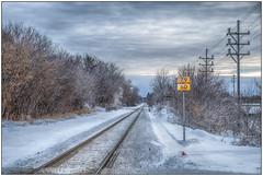 RR Crossing (Rick Olsen) Tags: wisconsin watertown railroad tracks snow fuji fujifilm xt2