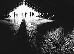 F_MG_3069-BW-3-Canon 6D2-Canon 16-35mm-May Lee 廖藹淳 (May-margy) Tags: maymargy bw 黑白 人像 逆光 剪影 石頭 地坪 走廊 火車站 線條造型與光影 玻璃 反射 幾何構圖 點人 模糊 散景 里斯本 東方火車站 葡萄牙 台灣攝影師 街拍 天馬行空鏡頭的異想世界 心象意象與影像 fmg3069bw3 potrait glass reflection portrait backlighting silhouette corridor trainstation stonepavement lisboa portugal canon6d2 canon1635mm maylee廖藹淳 blur bokeh humaningeometry humanelement streetviewphotography mylensandmyimagination linesformandlightandshadow naturalcoincidencethrumylens