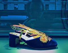 25/365 Man takes selfie while looking at expensive shoes in a shop window (Árni Svanur Daníelsson) Tags: thinkingaboutwhatisposh genf geneve geneva moi me self reflection windowselfie window selfie gucci shoes