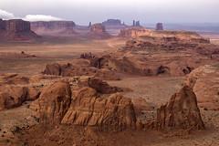 The Mythical Nen (Ramen Saha) Tags: huntsmesa monumentvalley utah arizona tsebiindzisgaii sandstone landscape clouds tribalpark navajonations redrock ramensaha