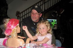 Teagan and Her Daddy (Piedmont Fossil) Tags: teagan jamie barbie doll makeup