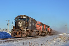 IC 6251 on the Missabe Subdivision (tjman274) Tags: minnesota winter canadiannational cn illinoiscentral ic