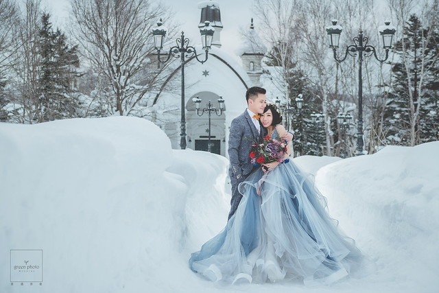 海外婚紗 北海道婚紗 雪地婚紗