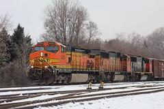 Orange In The Snow (recekasten) Tags: cn bnsf gt 703 eje wisconsin railroad neenah appleton