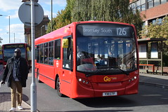GAL 732 @ Bromley North station (ianjpoole) Tags: goahead london metrobus alexander dennis enviro 200 yx11ctf 732 working route 126 ringers road bromley high street foots cray eltham park