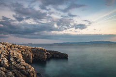 Sea Rocks And Sky (panos_adgr) Tags: nikon d7200 long exposure photography sea water rocks stones sky clouds motion blur sunset shore salamina greece travel nd filter x6