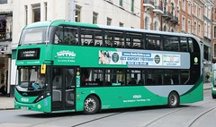 Nottingham City Transport Bio-Gas Bus 402 YP17UFB on Market St in the City Centre. (Gobbiner) Tags: 402 nottinghamcitytransport biogasbus bridgfordbus yp17ufb adl greenline scania
