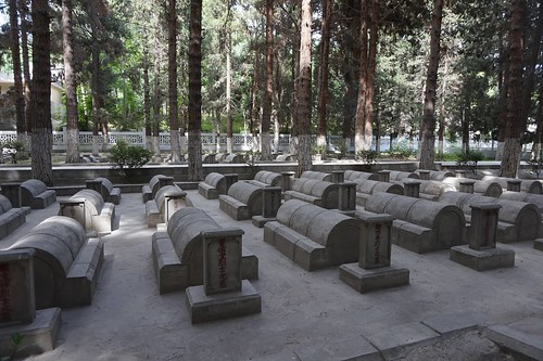 Cemetary for Chinese workers killed during construction of Karakoram Highway, Gilgit-Baltistan, Pakistan.