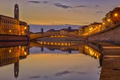 Mezzo / Middle (Pisa, Tuscany, Italy) (AndreaPucci) Tags: pisa italy italia arno river tuscany toscana middle bridge andreapucci