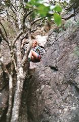 Mt Lindesay down a different way, 1993 (NettyA) Tags: 1990s 1993 australia mtbarneynationalpark mtlindesay qld bushwalk bushwalker climbing rock scannedprint summit queensland scenicrim sunshinecoastbushwalkingclub