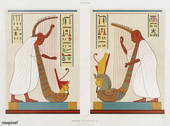 Bards of Ramses III from Histoire de l'art égyptien (1878) by Émile Prisse d'Avennes (1807-1879). Digitally enhanced by rawpixel. (Free Public Domain Illustrations by rawpixel) Tags: otherkeywords anillustrationoftheegyptian ancestry ancient ancientegyptian ancientegyptianart anqet antique archaeological archeology art artwork bard cc0 design designing drawing dynasty egypt egyptian egyptiankingdom egyptology empire handdrawn histoiredelartégyptien historical history illustration kingdom mythology old oldfashioned outlines outlinesfromtheantique painting pattern psd ramsesiii sepia sketch story traditional vintage émileprissedavennes
